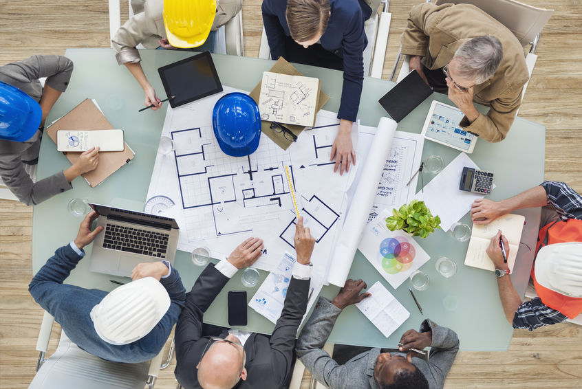 Architects and Engineers Planning a New Project